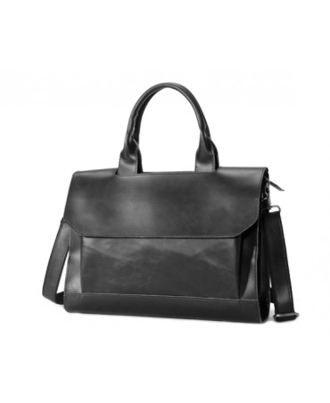 KAZUNO FLAP BRIEFCASE BLACK