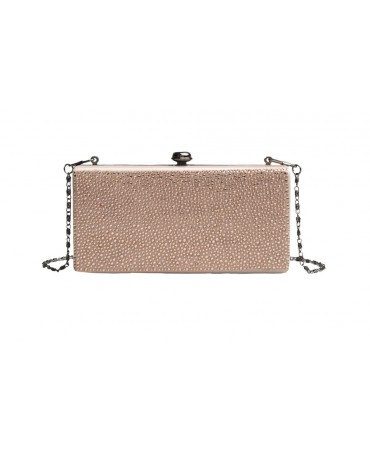 AVA BOX CLUTCH CHAMPAGNE