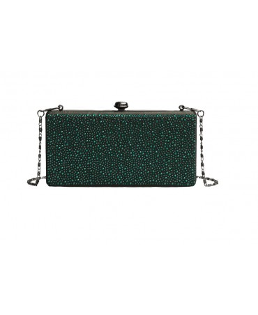 AVA BOX CLUTCH EMERAUDE