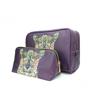 ENSEMBLE TROUSSE DE VOYAGE ELEPHANTS & FLAMINGOS